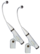 Matched Pair of P30/Cs in white (mic clips included)