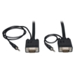 25ft Male HD15 + 3.5mm SVGA/VGA Monitor Cable with Audio, Black