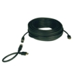 25ft Male to Male Easy-pull HDMI Gold Cable, Black