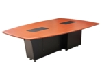 360° Video Conference Table, Thermowrap Auburn Pear