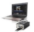 HP Elitebook Laptop with CG-350 Character Generator and TC-200 Overlay Box