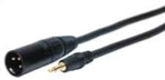 ST Series XLR Plug to 3.5mm Mini Plug Audio Cable 6ft
