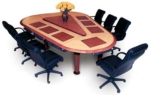 Wood Grain Laminate Conference Table