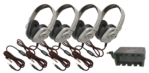 4-pack Wired Mac and PC Compatible Stereo Headset with Softer Ear Cushions