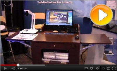 Tecom Launches the Worlds' First Turn-Key AV Wooden Lectern
