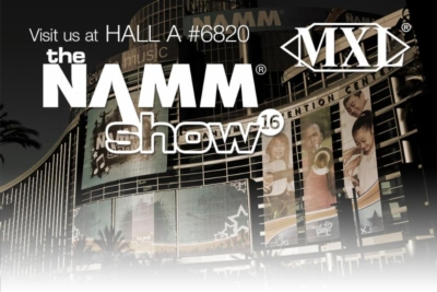 Visit us at NAMM to win a FREE MXL HE Series Microphone!