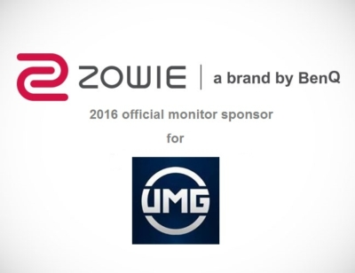 BenQ's New eSports Brand ZOWIE is the Official Monitor Sponsor for UMG in 2016