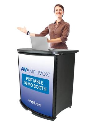 AmpliVox Portable Demo Booth Promotes Your Company Image