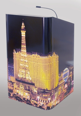 Vinyl Wrapped  Lectern at InfoComm