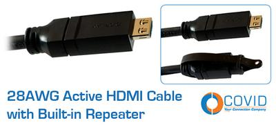 Covid Adds New 28AWG Cables to the Active HDMI Extender Cable Line