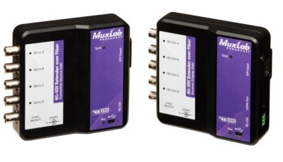MuxLab Demonstrates Four HD-SDI Cameras Connected Live to its 6G-SDI Extender Over a Single Fiber Optic Cable