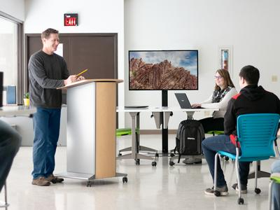 Spectrum Industries Inc. Innovates Sleek, AV-Ready Lectern