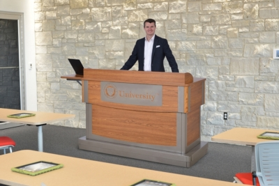 Customer Inspiration Leads Lectern Redesign