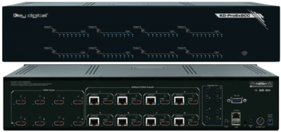 Key Digital® Introduces at Infocomm 2016, UHD/4K HDBaseT/HDMI HDCP2.2 Matrix Switchers with Built-in Compass Control® System: KD-Pro6x6/8x8CC &