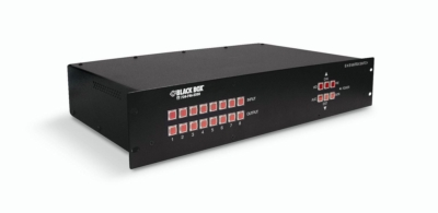 8 x 8 and 16 x 16 matrix HD video switching that's controlled via RS-232 commands, remotely over an IP connection, or via the front panel