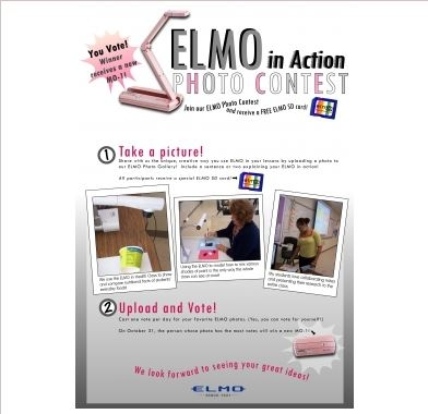 Enter the ELMO Photo Contest for a chance to win an MO-1!