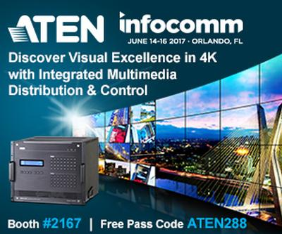 ATEN Introduces the Latest Addition to its Modular Matrix Switch Series and New 4K HDMI Over IP Extender at InfoComm 2017