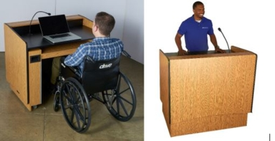New AmpliVox ADA Compliant Lectern Accommodates All Presenters