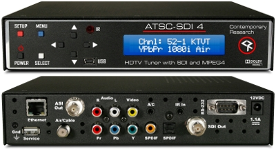 Contemporary Research to Demo New ATSC-SDI 4 HDTV Tuner at NAB Show