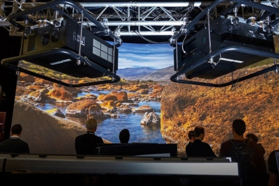 8K x 4K Projection at ISE 2016