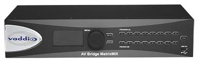 Vaddio Launches AV Bridge MatrixMIX Multipurpose AV Switcher