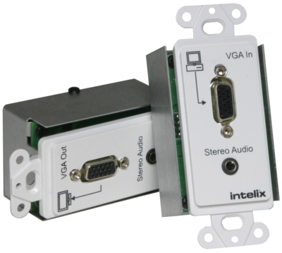Intelix Introduces VGA and Stereo Audio Wallplate Extender