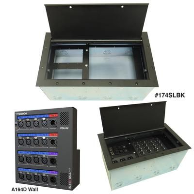 ACE Backstage Floor Box for New Digico + Dante