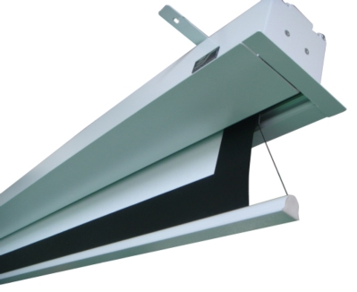 Aerie Tension2, In-Ceiling Electric Projection Can Be Installed from Either Above or Below