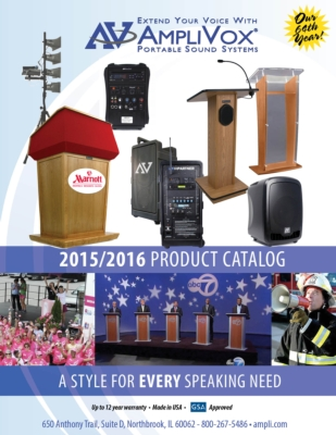 AmpliVox Showcases Diverse Products in 2015-16 Catalog