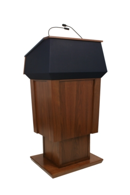 Designed for FBI Director, AmpliVox Patriot Lectern Delivers  Elegant Style with Height Adjustability