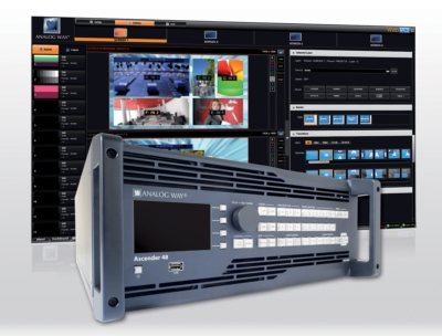 Analog Way exhibits Ascender 48, impressive new Multi-screen Seamless Switcher with 48 Scalers InfoComm Middle East & Africa 2013 – Booth #TA-115