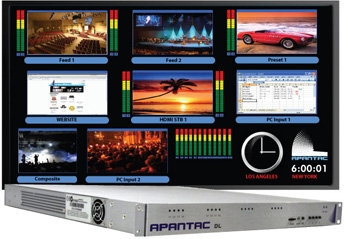 Apantac and Roland Systems Group Show Integrated Multiviewer and Switcher Solution at InfoComm 2011