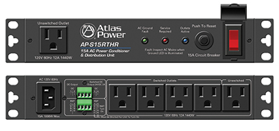 Atlas Sound Introduces 15A Half Width Rack Power Conditioners