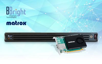 BBright Selects Matrox SMPTE ST 2110 NIC Cards for New Range of Media Production Servers