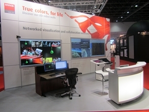 Barco and its partners showcased their latest products at InfoComm MEA 2012