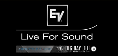 Unveiling the new Electro-Voice EV-Innovation family at Shuttlesound's 'Big Day Out'