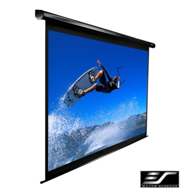 Spectrum-Elite's new Electric Roll-up Projection Screen for the Retail Sales Channel