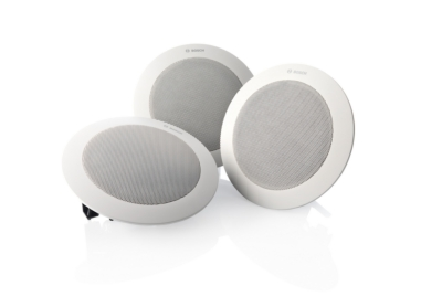 Bosch introduces new LC4 wide-angle ceiling loudspeaker InfoComm 2012, booth C9708