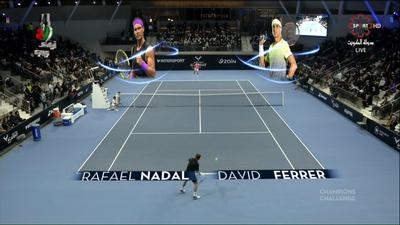 The Rafa Nadal Academy Opening Act in Kuwait displayed Brainstorm AR graphics