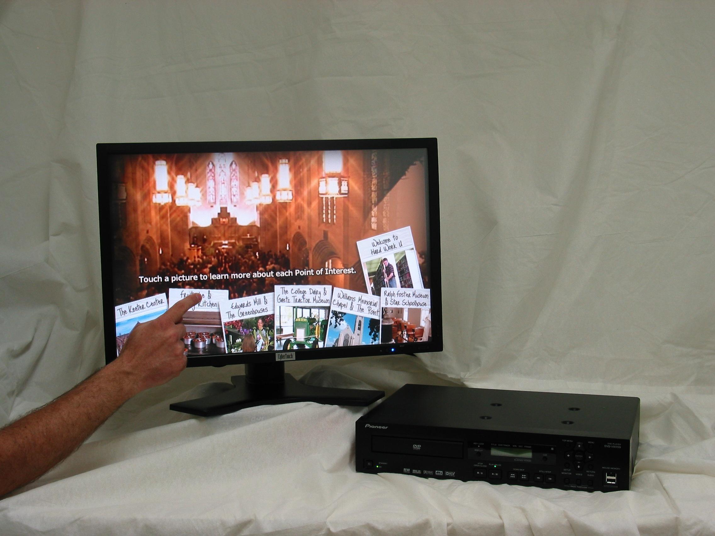CyberTouch Announces New Bundle Package Series with Pioneer's Professional DVD-V8000