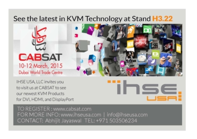 IHSE USA prepares for CABSAT with enhanced KVM switch and extender products