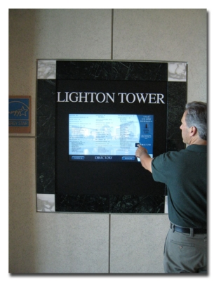 CB Richard Ellis Directs Office Building Visitors With Interactive Digital Directories