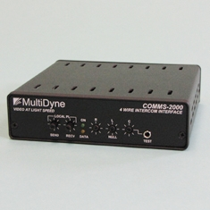 MultiDyne Introduces COMMS-2000 TWO WIRE To Four Wire Intercom Interface At InfoComm 2009