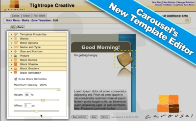 TIGHTROPE MEDIA SYSTEMS ANNOUNCES THE RELEASE OF CAROUSEL 6.0