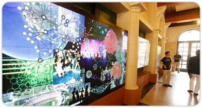 Christie MicroTiles Illuminate Reception at Opening of Interactive Media Building at the USC School of Cinematic Arts