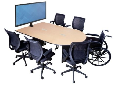 AmpliVox Introduces New Collaboration Huddle Table with Technology Support Features