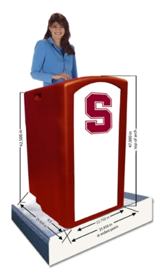 AmpliVox Presents Customizable Collegiate Lecterns
