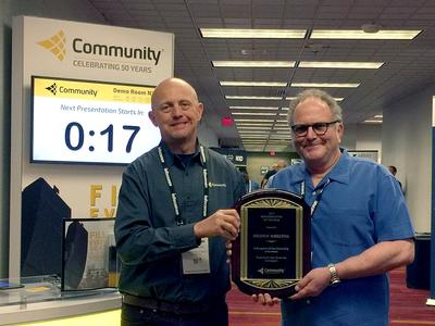 Highway Marketing Receives Community's Rep of the Year Award