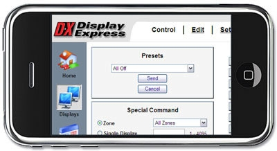 Contemporary Research Intros iPhone Control for Display Express Systems