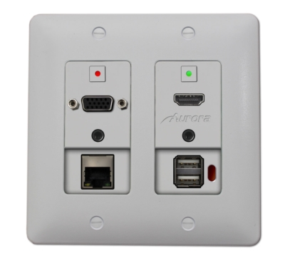 AURORA MULTIMEDIA ANNOUNCES HDMI/VGA WALLPLATE WITH HDBaseT CAT EXTENSION: